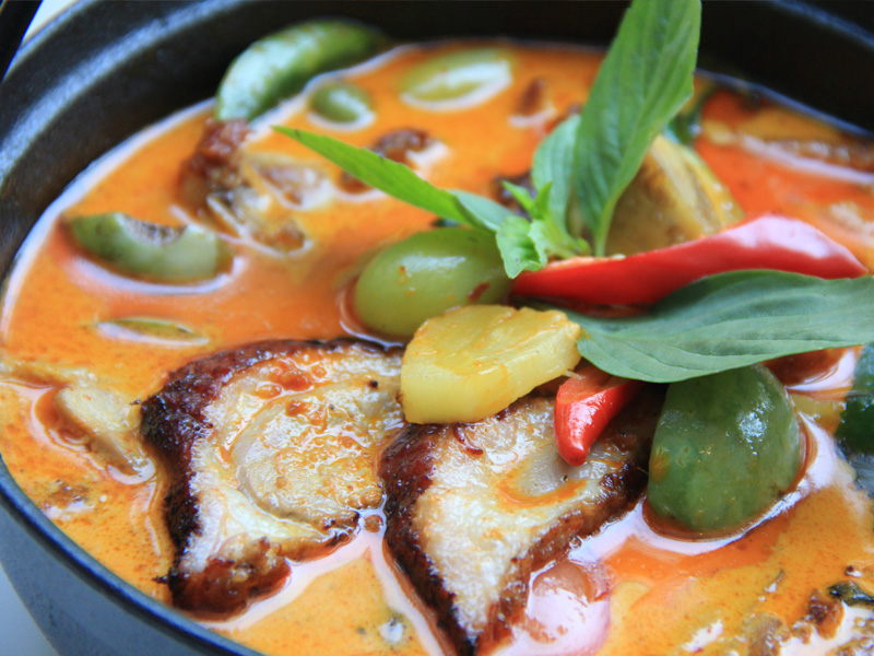 Serenity Onsen Spa - Mady Restaurant - Red Curry with Roasted Duck
