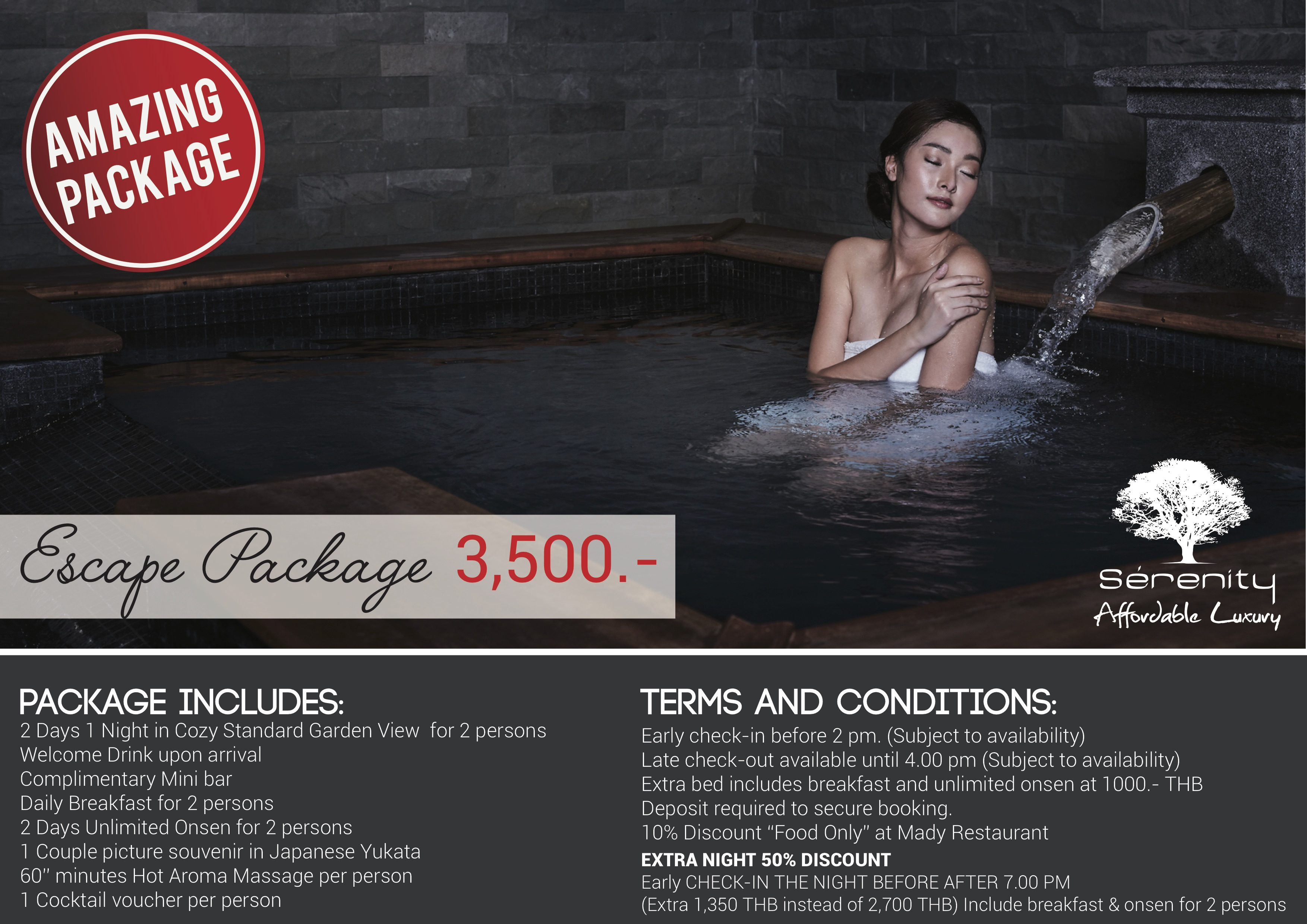 Serenity escape package